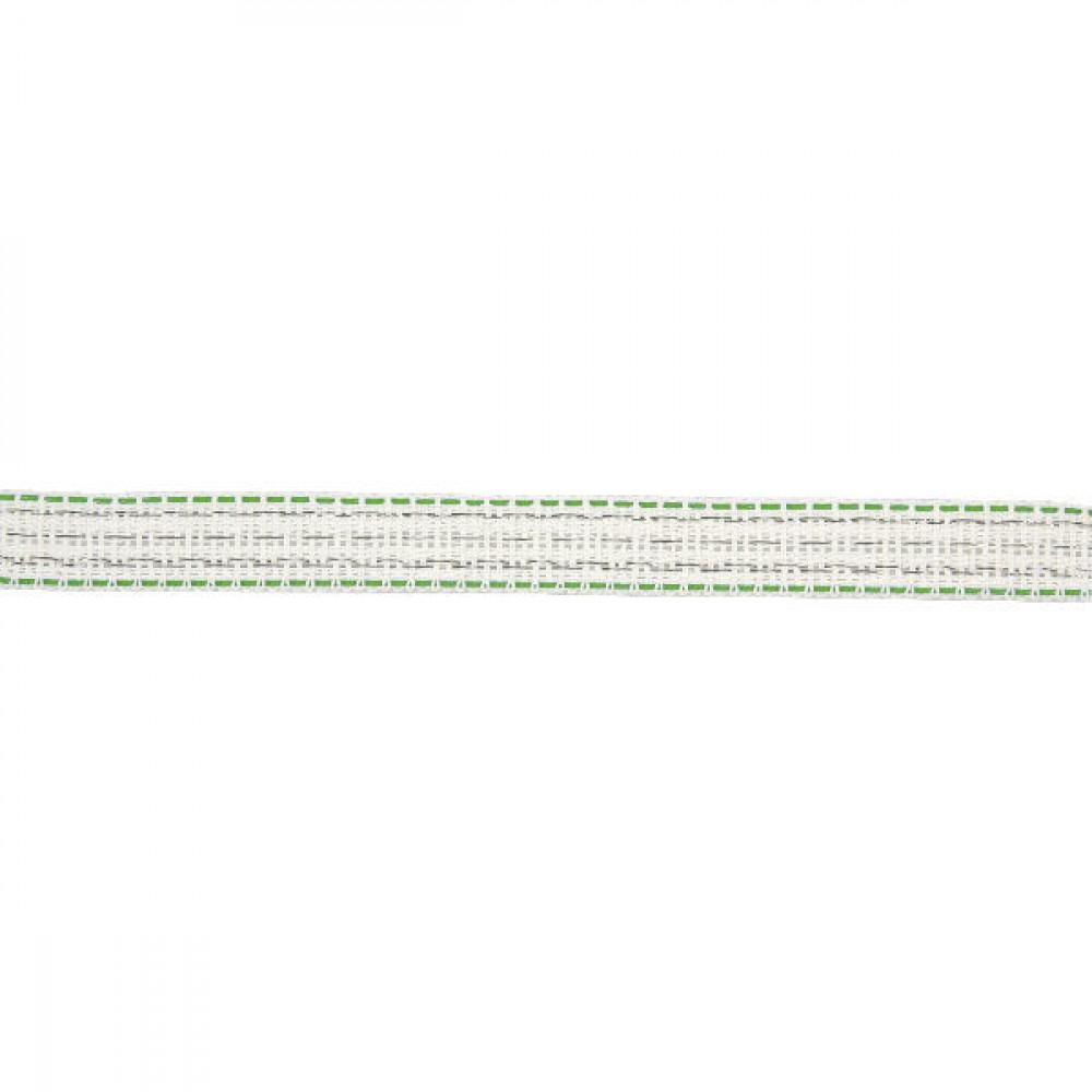 AKO Weideafr.band w./gr. 20mm 200m - 449124   Voor lange afrasteringen   Wit / groen   190 kg   0,183 Ohm Ohm/m   0,40 mm