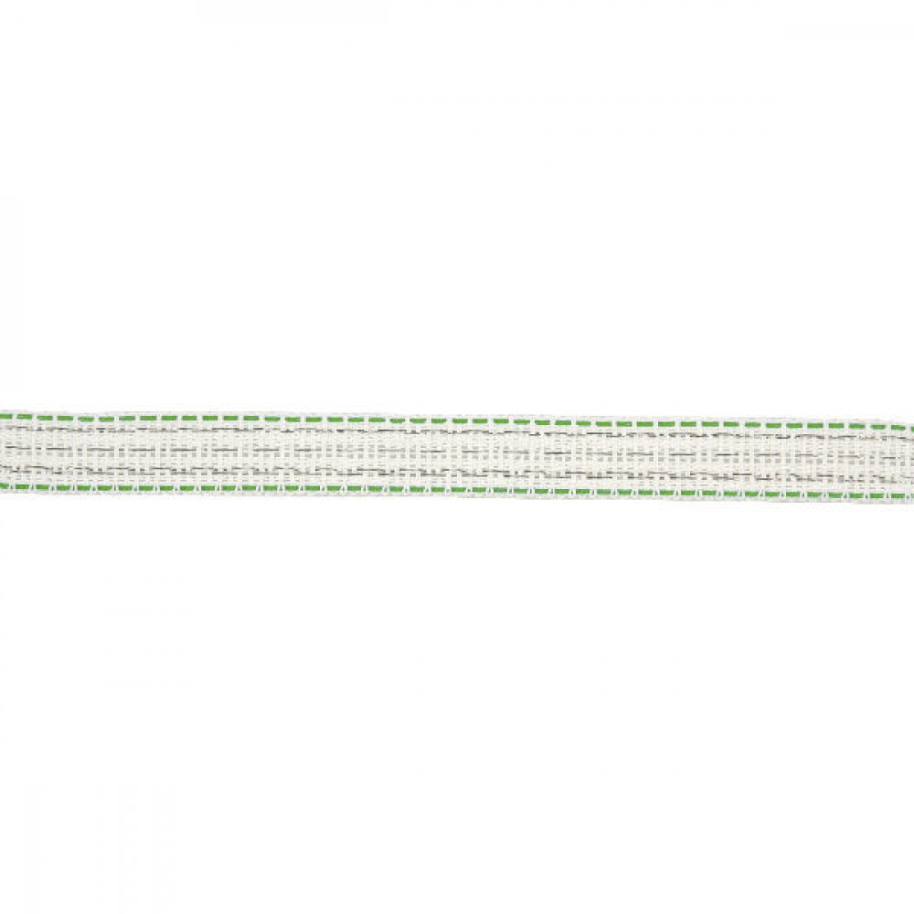 AKO Weideafr.band w./gr. 40mm 200m - 449125 | Voor lange afrasteringen | Wit / groen | 350 kg | 0,09 Ohm Ohm/m | 0,40 mm