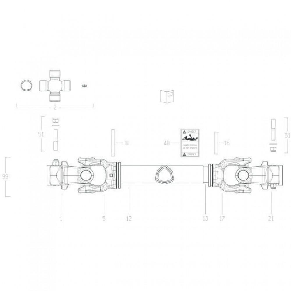 Kuhn Excentrische-pennenset - 4505223 | Aant.1