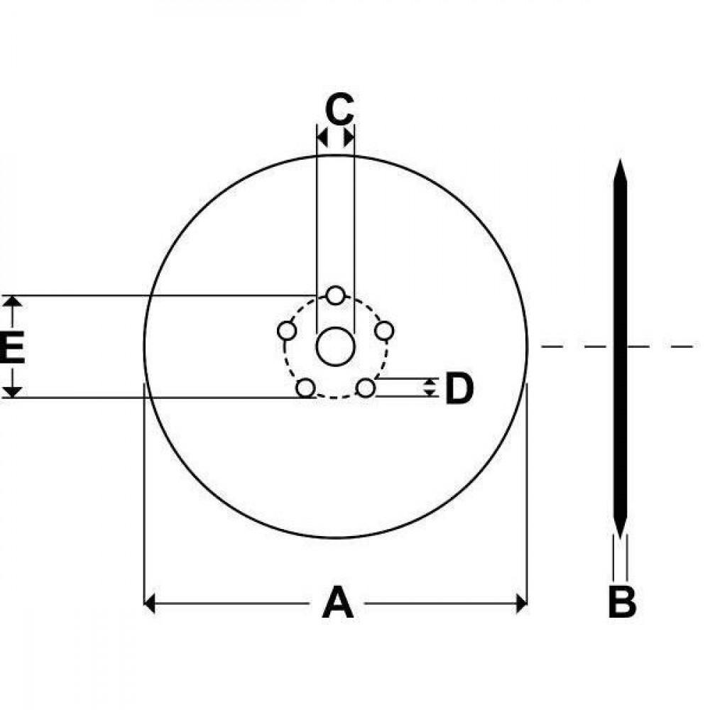 Rabe Gladde tussenplaat SG-662 VG - 45120006 | 660 mm