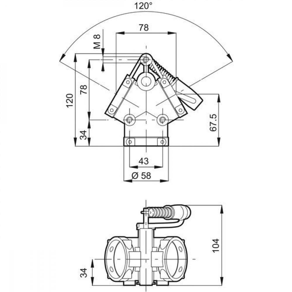 Arag Schuifafsluiter - 452200 | Met vorken | 2 bar
