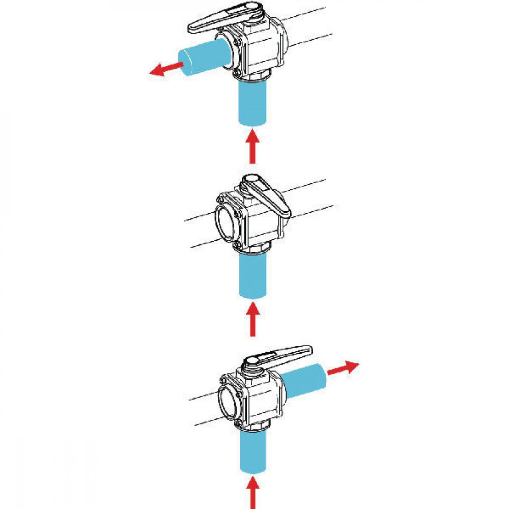 Arag 3-weg kogelkraan T9 gesl.midde - 453027S99 | 227 mm | 125 mm | 200 mm | 104 mm