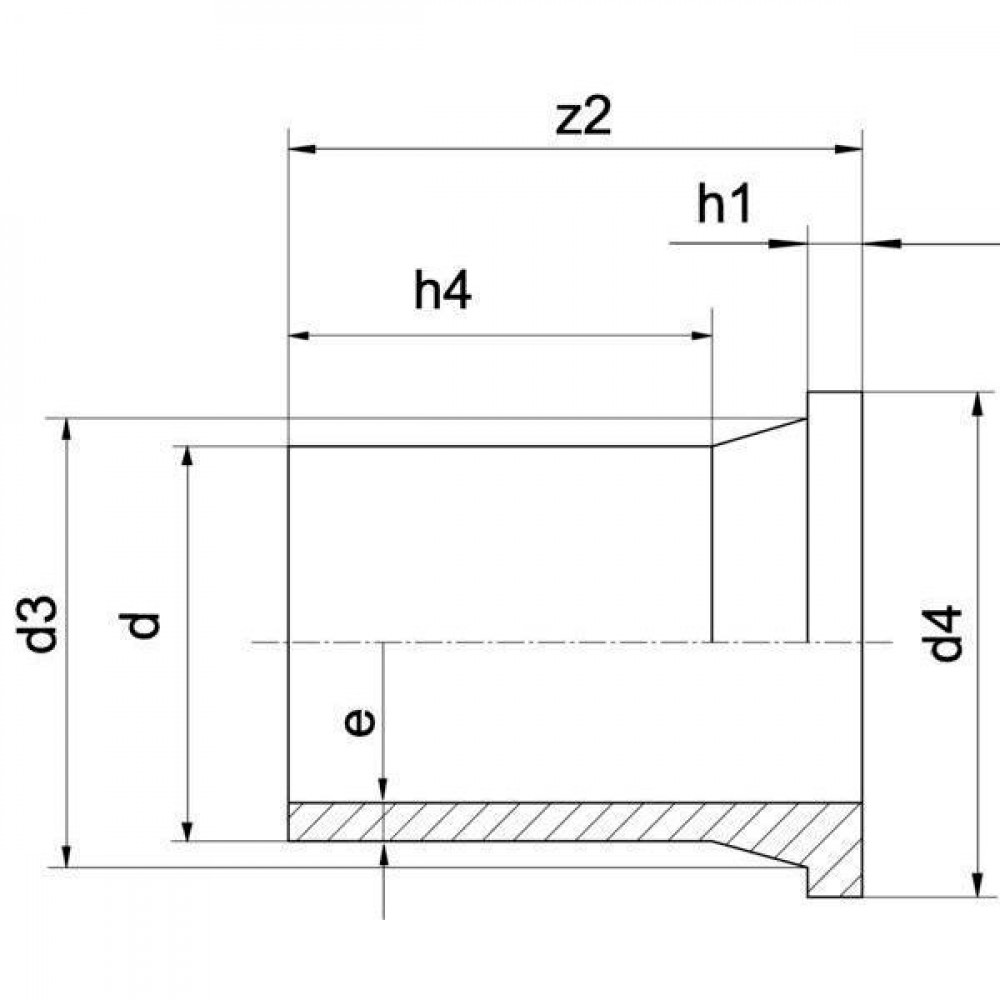 Plasson Laskraag 110 mm SDR17 - 460207110 | 110 mm | 158 mm | 140 mm | 100 mm | 18 mm | 6,5 mm | 124 mm