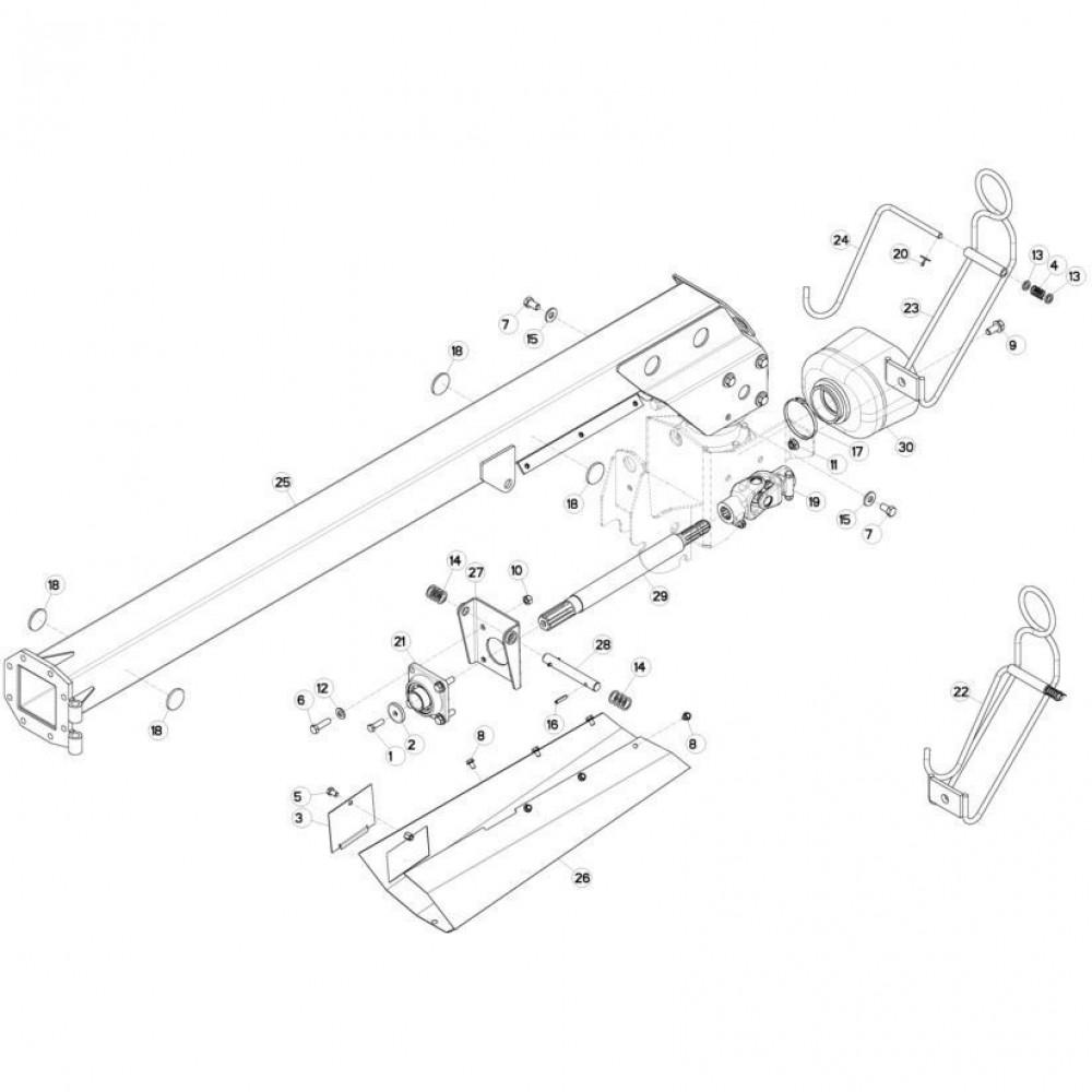 Kruiskoppeling Kuhn - 4630000 | Aant.1