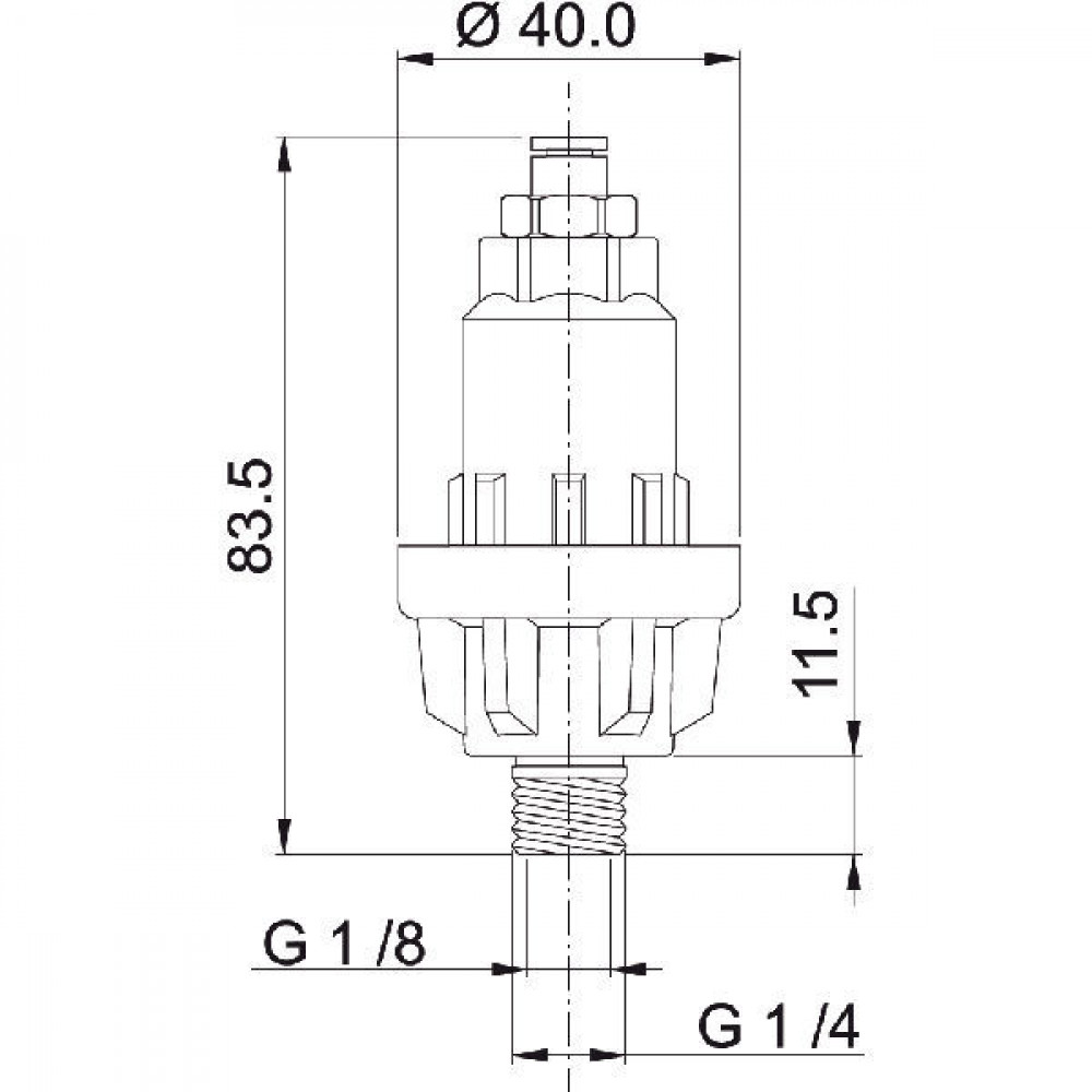 Arag Vloeistofscheidingseenheid - 466350 | G 1/4 Inch