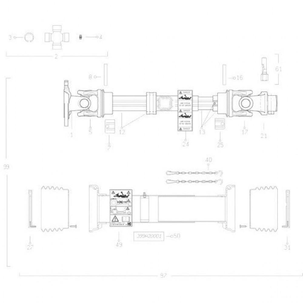 Kruiskoppeling cpl. Kuhn - 4805001   Aant.2