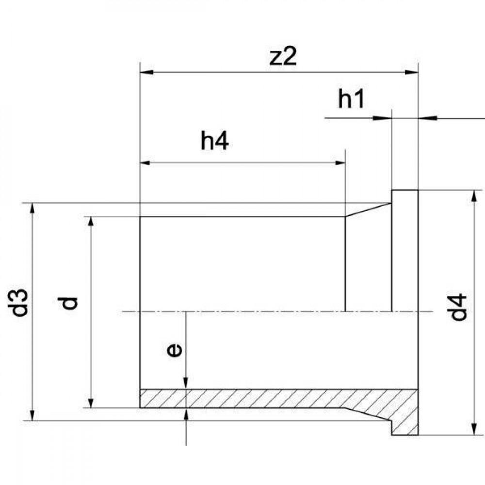 Plasson Laskraag 90 mm SDR11 - 490207090   PE 100 SDR 11 (ISO S5)   138 mm   140 mm   103 mm   17 mm   8,2 mm   102 mm