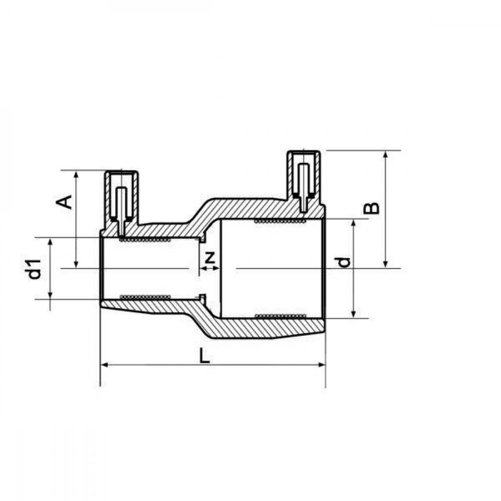 Plasson Reduceermof 160 x 110 mm - 491104160110 | PE 100 SDR 11 (ISO S5) | 160 mm | 110 mm | 193 mm | 104 mm | 110 mm