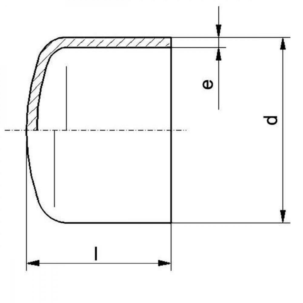 Plasson Kap 110 mm SDR11 - 491207110 | Universeel toepasbaar | PE 100 SDR 11 (ISO S5) | 110 mm | 120 mm