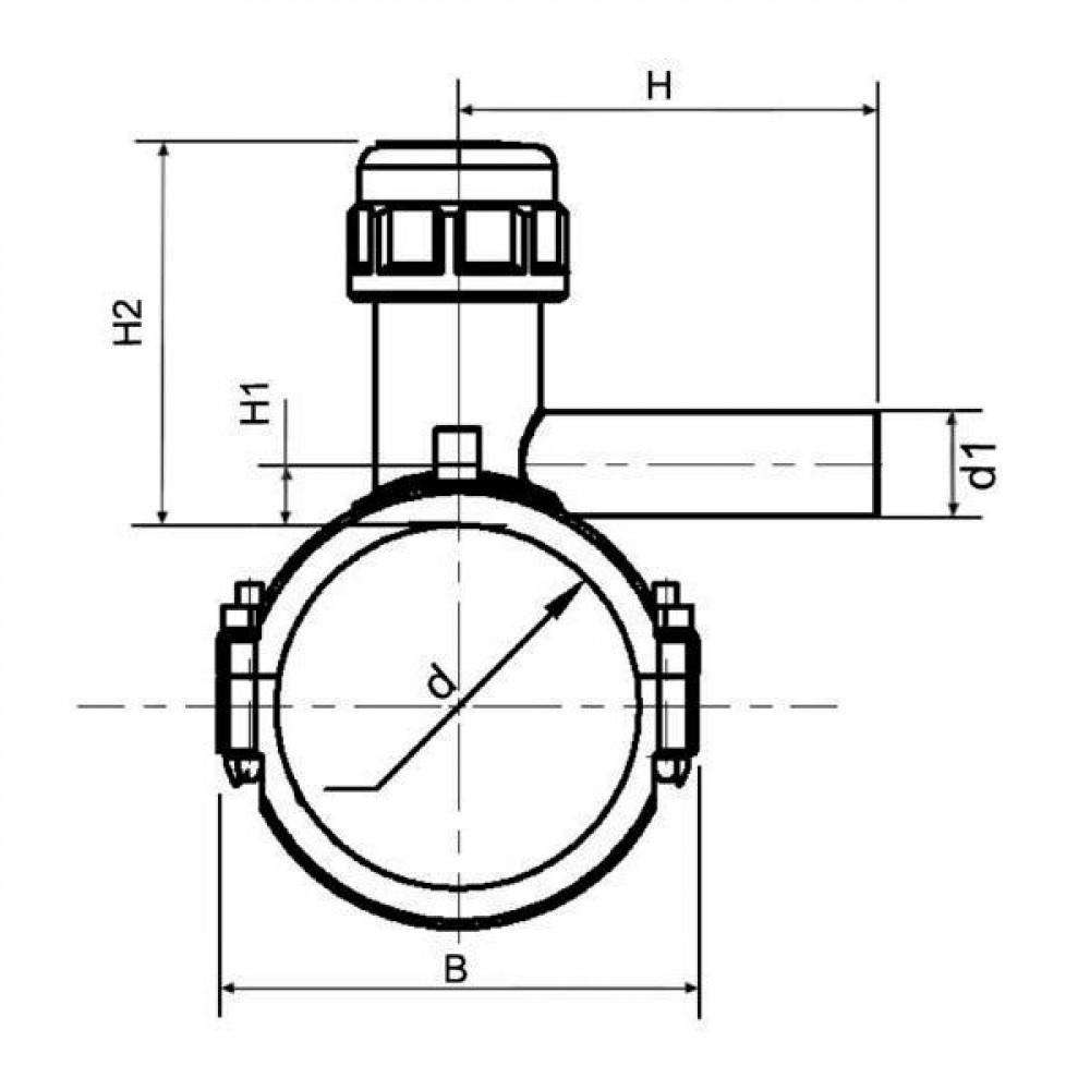 Plasson Aanboorzadel 225 mm SDR 11 - 496301225063   PE 100 SDR 11 (ISO S5)   225 mm   16 bar   1.843 g   177 mm   175 mm