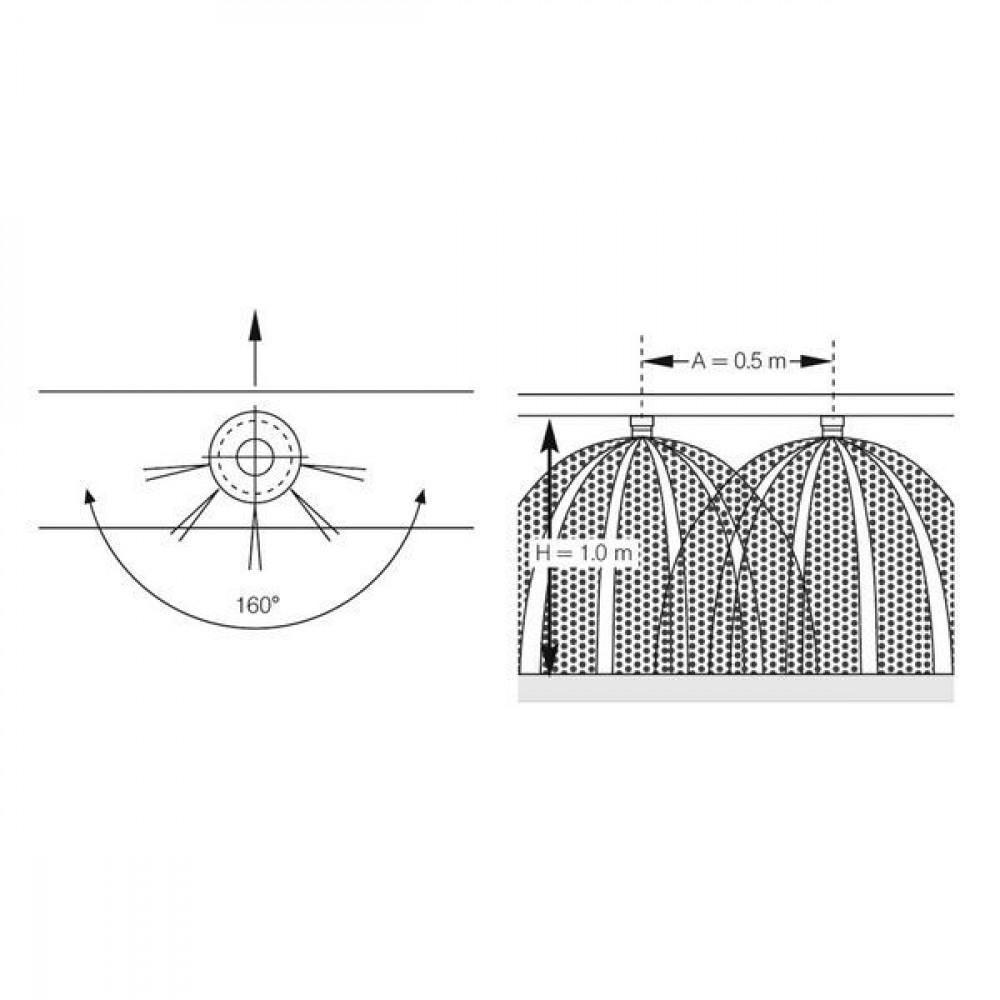 Lechler Kunstmestdop FL 5-gaats RVS - 50017916 | Zeer goede slijtvastheid | 1,5 5 bar | 10 mm | 160°