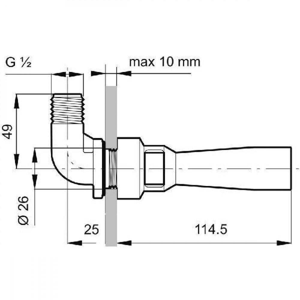 Arag Tank agitator met 90° kopp. - 502010 | 1.2 mm