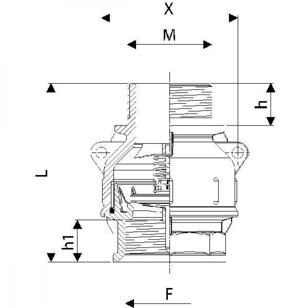 "Arag Voetventiel 2""M-2""F - 5042007 | 2 BSP | 2 Inch BSP | 116 mm | 27 mm"