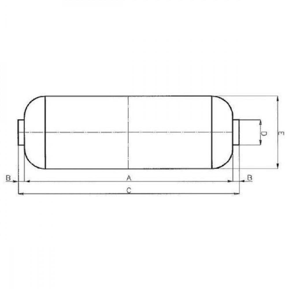 Battioni Pagani Inlaat demper BP - 5090000095 | 1.000 m³/h | 1.000 mm | 100 mm | 1.200 mm | 120 mm | 250 mm