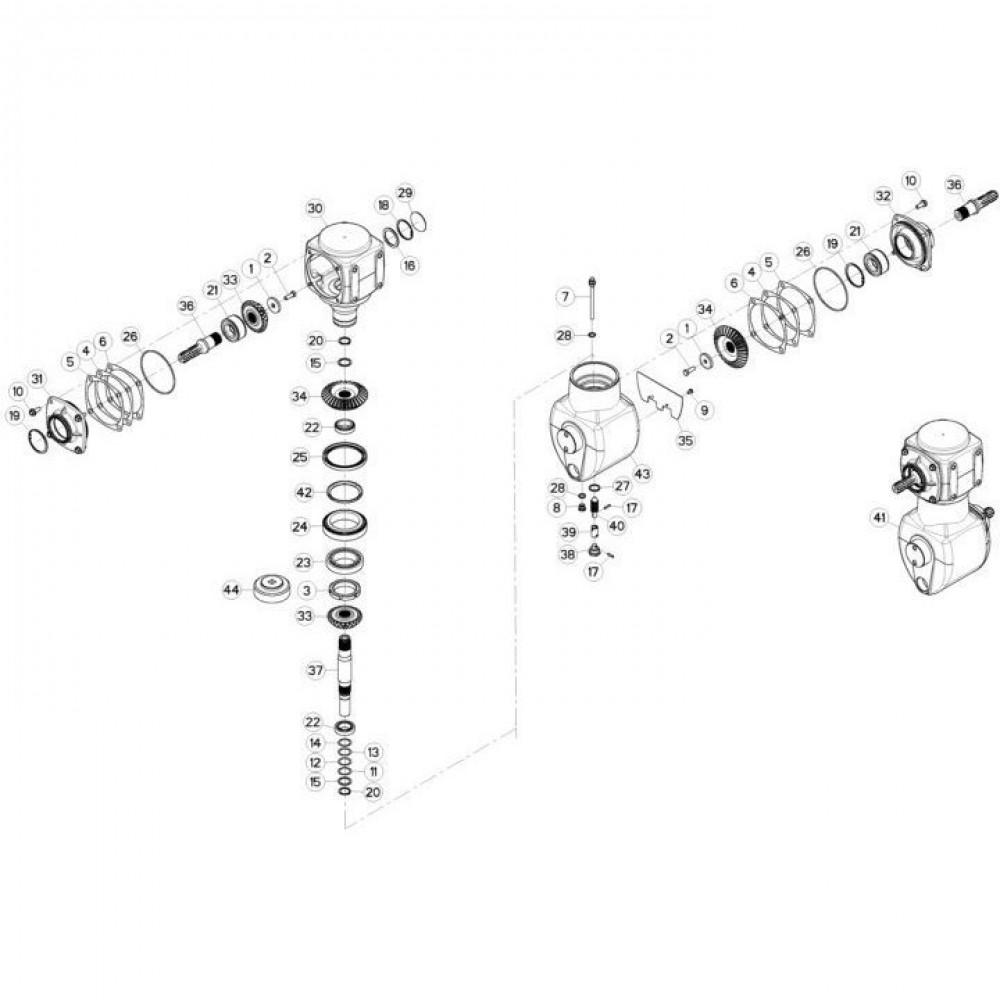 Kuhn Afstandsschijf - 55733600   Th=0,1mm, Aant.2