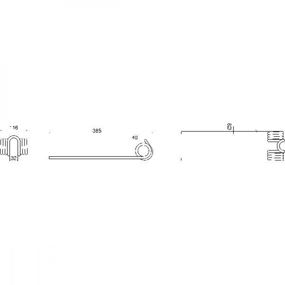 Cirkeltand Fortschritt - 5860000821N | 5860.00082.1 | 385 mm | 116 mm | RS 2 /545