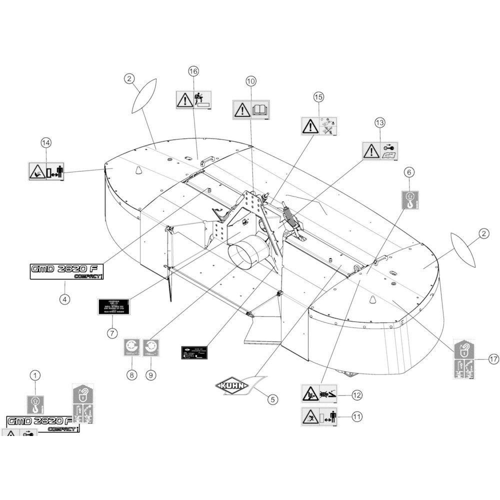 Kuhn Sticker - 59910300 | Ontgrendelen, Aant.3
