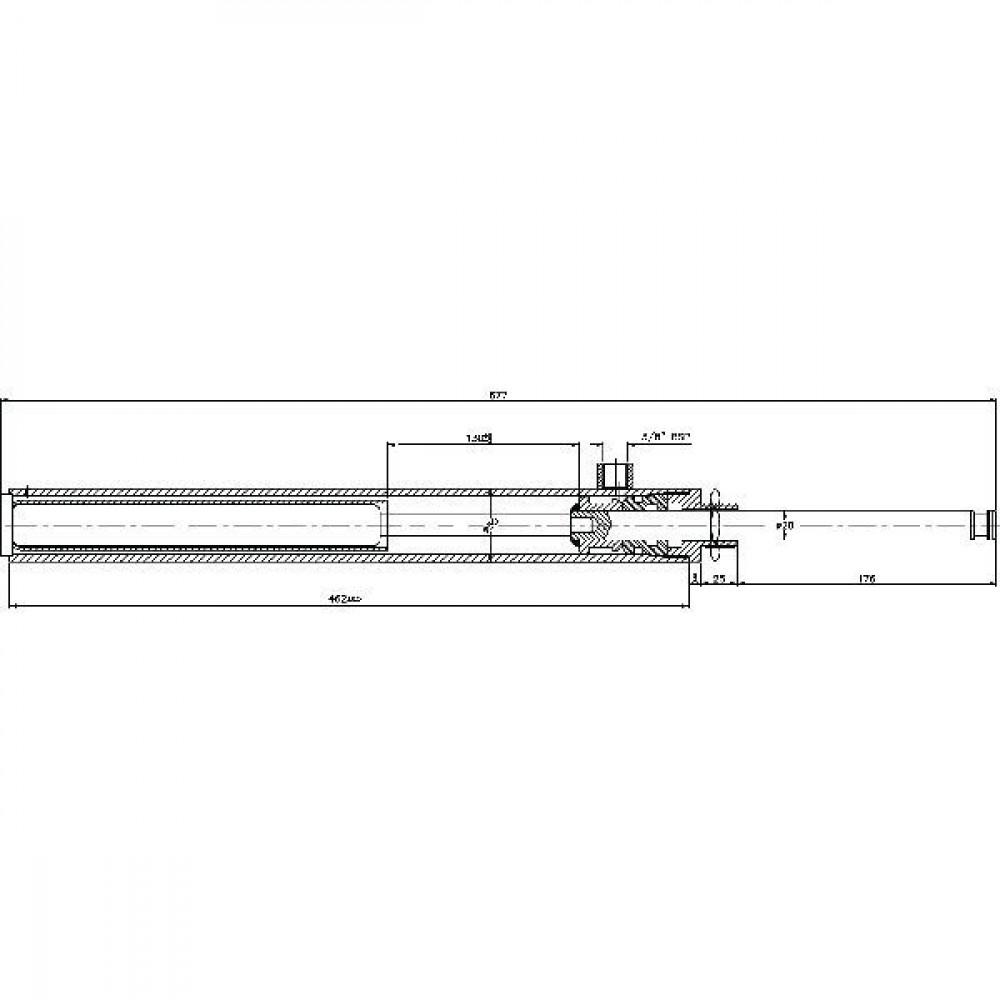 "Saturn Hydr. cilinder 6"" type 3 - 6003005C | Buiten"