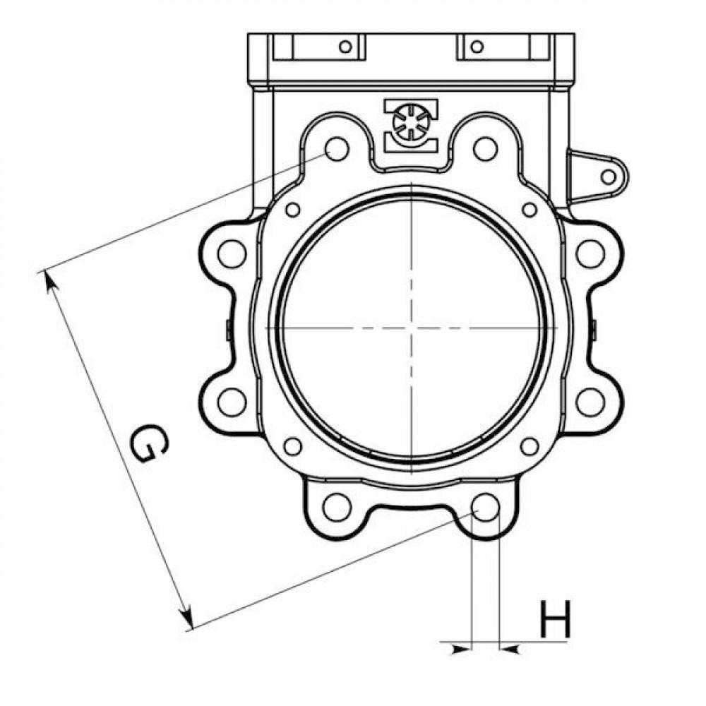 "Battioni Pagani Afsluiter 6"" pneu. BP LOCKER - 6080200142 | DIN PN10 UNI EN 1092-1 | 3,5 10 bar | 150 mm | 150 mm | 800 mm | 930 mm | 240 mm | 10 bar | 785 mm | 920 mm | 180 mm | 150 mm"