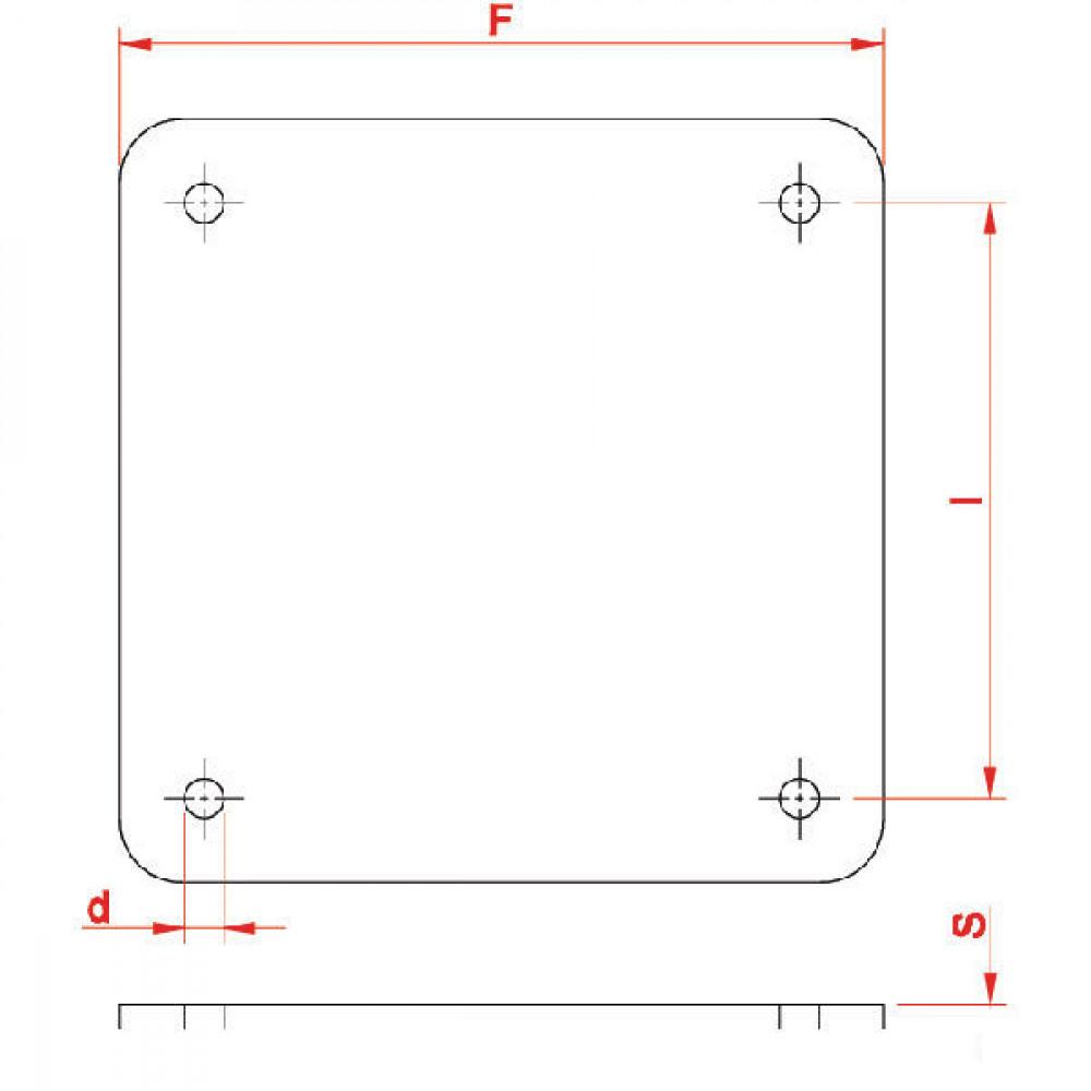 "Vierkantflens blind 6"" - 6309900Z | 6"" Inch | 150 mm | 195 mm"