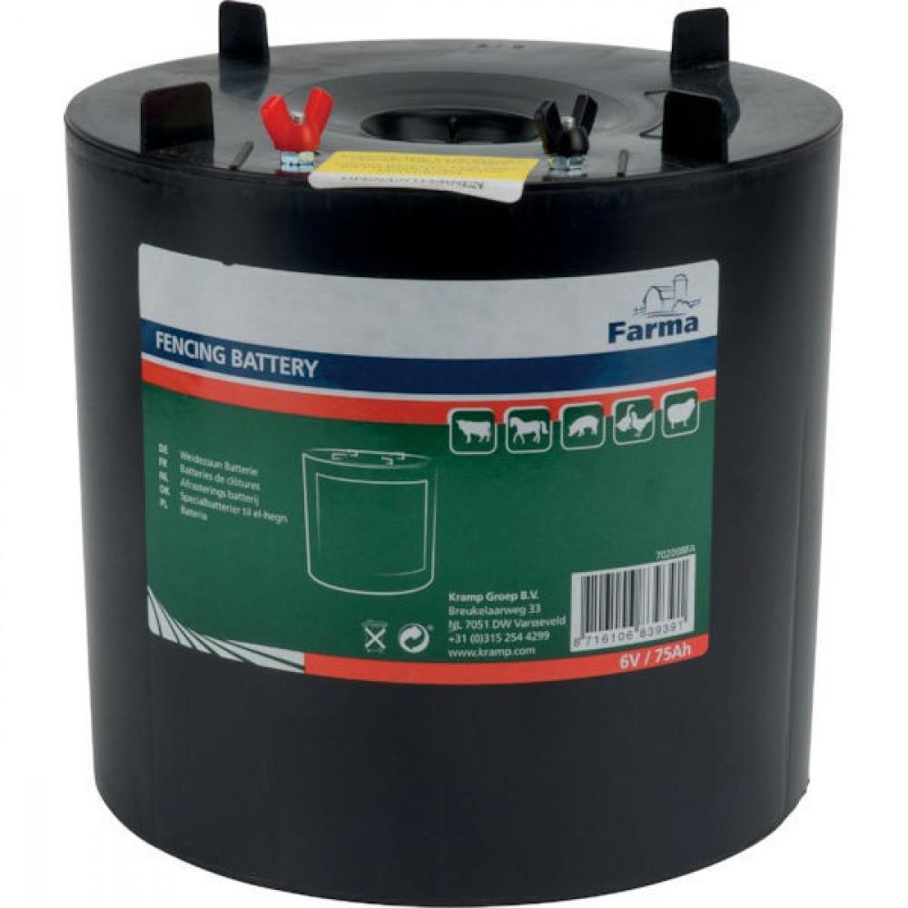 Farma Batterij rond 6V, 75Ah - 702008FA | 75 Ah | 175 mm