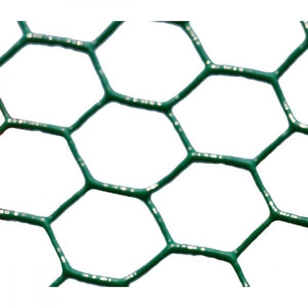 Betafence Hexanet plastic 6073 100cm 25m - 7028883 | Zeskantig vlechtwerk | Flexibel | 25 m | 100 cm | 1 mm | 12.475 kg