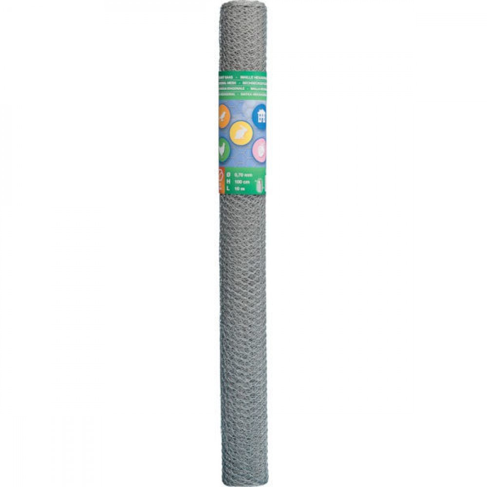 Betafence Hexnetting verz. r 25 080 100 - 7031660 | 100 cm | 25 mm | 0.8 mm | 53 pcs | Zilver | 8.05 kg