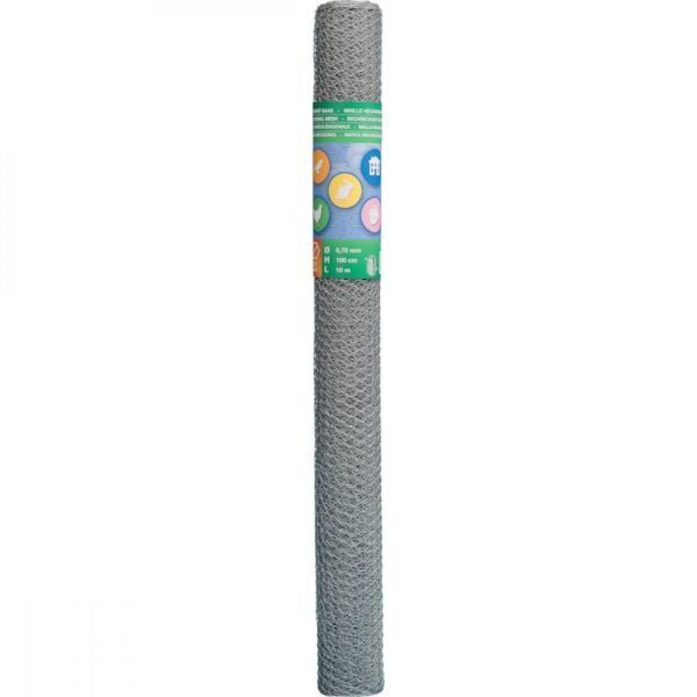 Betafence Hexnetting verz. r 50 100 50c - 7031662 | 10 m | 50 cm | 1 mm | 120 pcs | 1.45 kg | Zilver