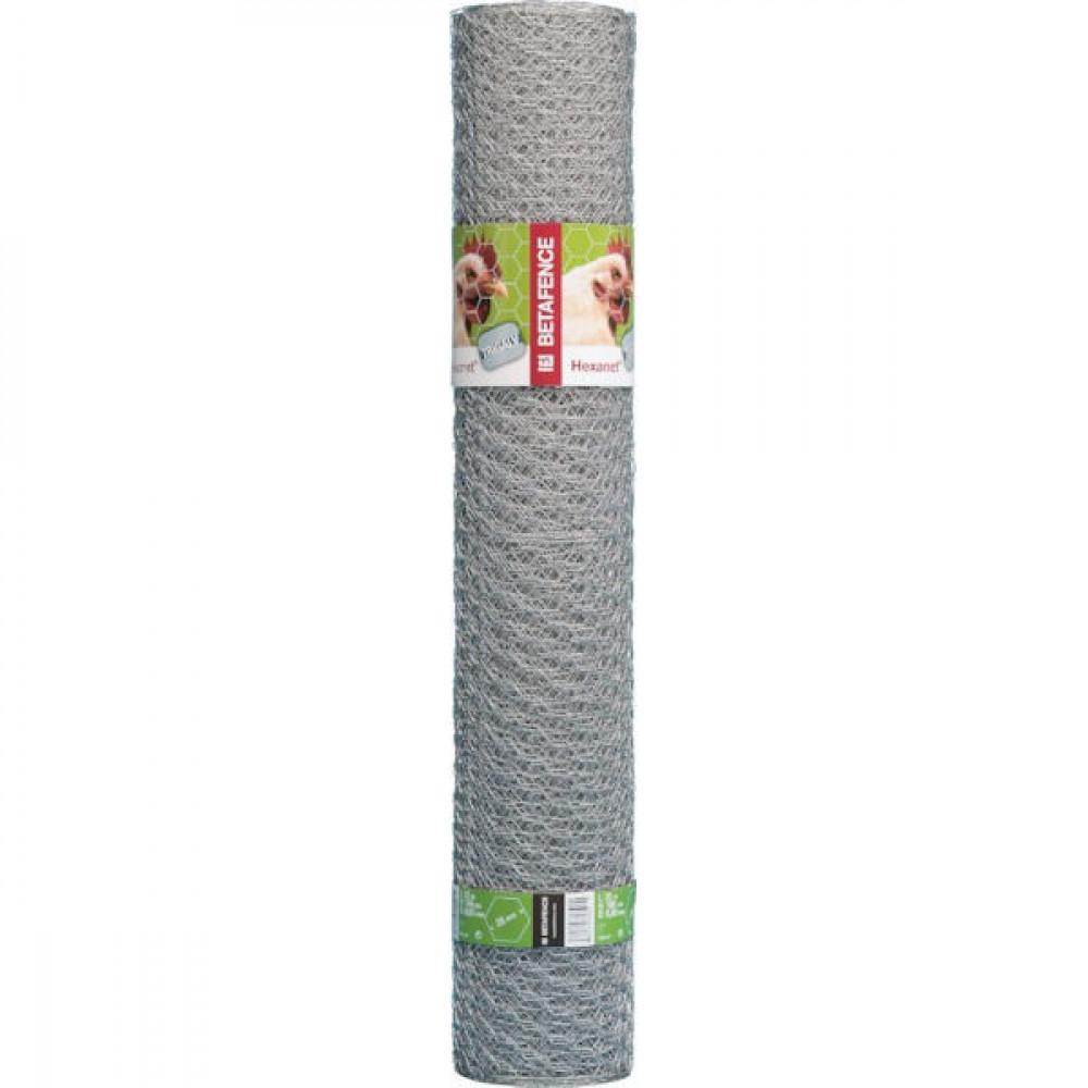 Betafence Hexanet 3gal r 13 070 100cm 10 - 7036385 | Zeskantig vlechtwerk | Flexibel | 100 cm | 13 mm | 0.7 mm | 5.08 kg | Zilver