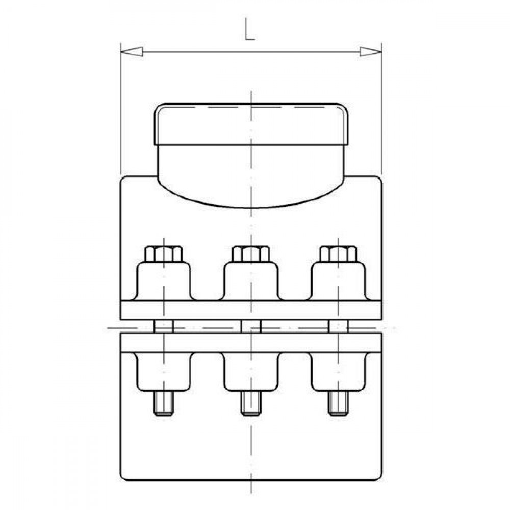 "VdL PP aanboorzadel 63mm x 1"" bi. - 7063001 | Polypropyleen | 1 Inch | 4x M8x45"