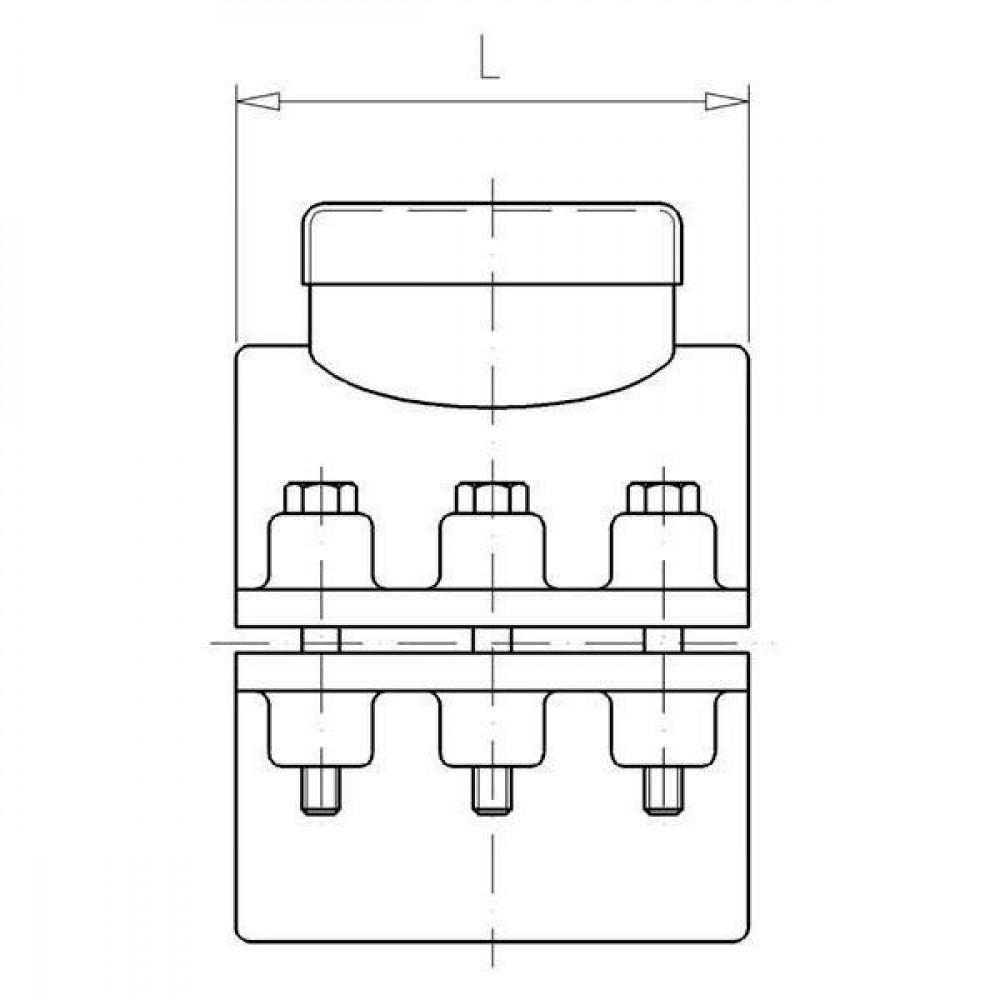 "VdL PP aanboorzadel 160mm x 2 1/2"" bi. - 7160212   Polypropyleen   160 mm   2 1/2 Inch   144 mm   6x M8x60"