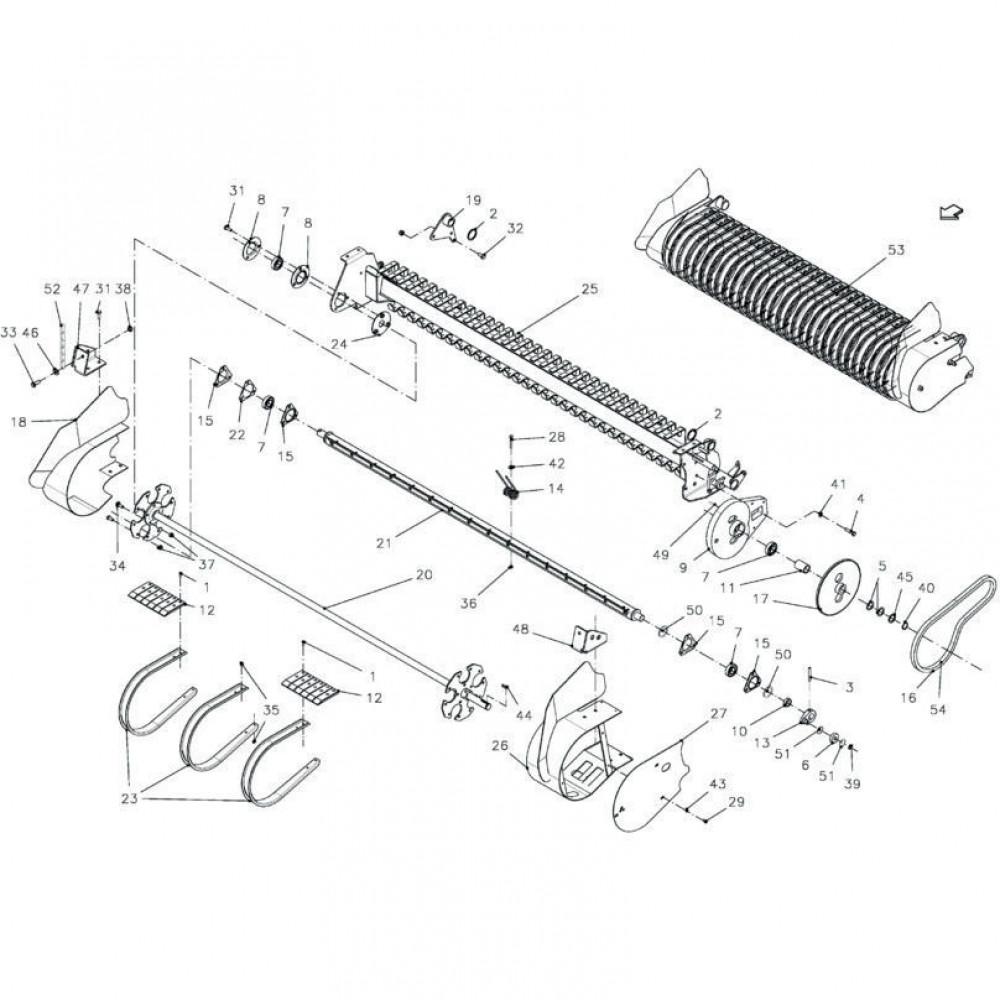 Kuhn Zeskantbout M8x60 kl. 5. - 80060853   M8x60mm, Aant.80