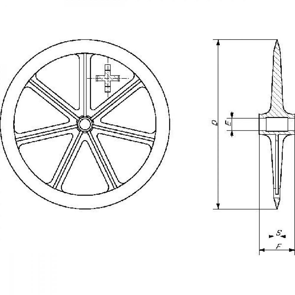 Vorenpakkerschijf XT-220 Rabe - 80071603   700 mm   140 mm   35 °