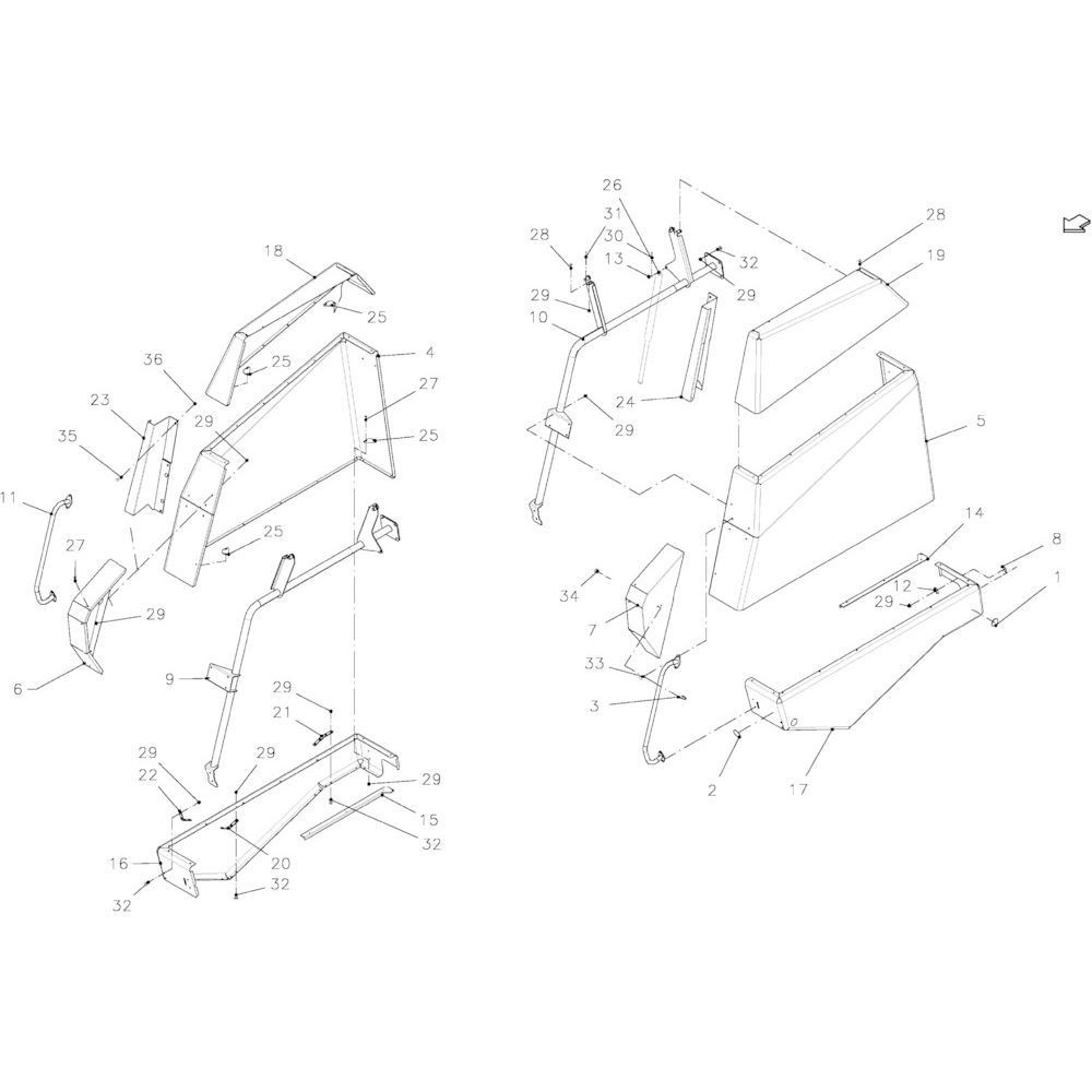 Kuhn Spertandkraagmoer - 80201264 | Aant.1