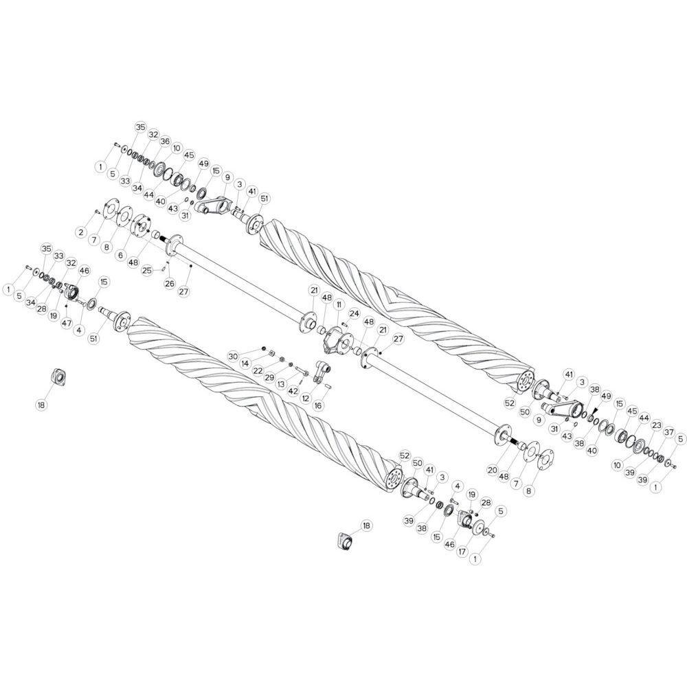 Kuhn Opvulring PS 0,5mm - 80253547 | Th=0,5mm, Aant.4