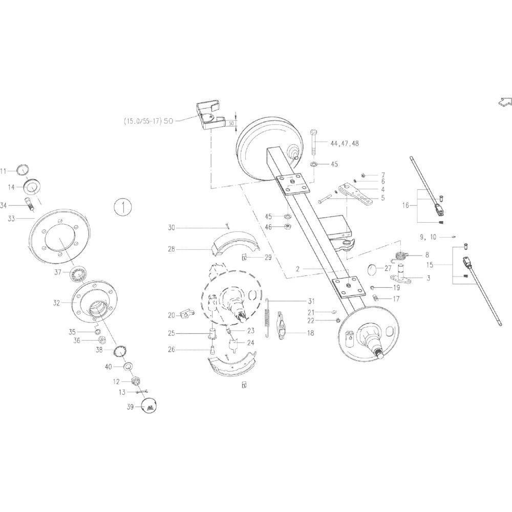 Kuhn Steunring - 80253549   35X45X2.5mm, Aant.2