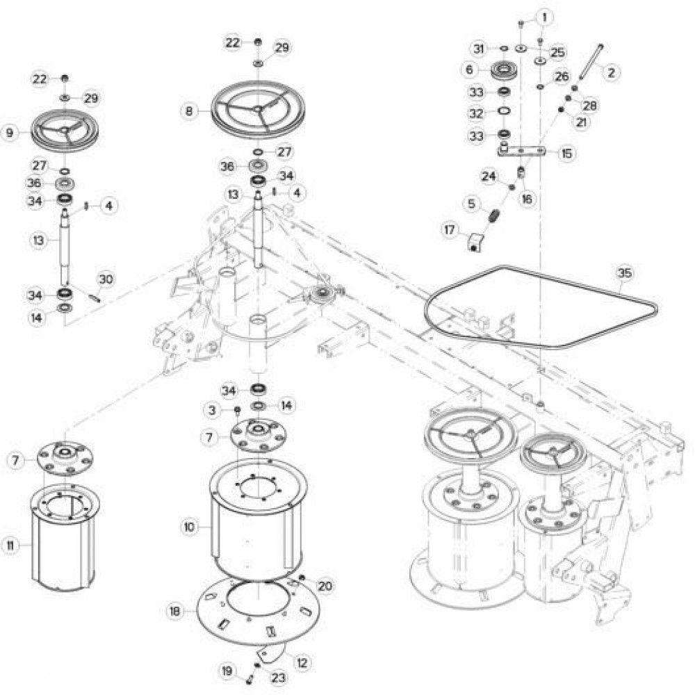 Kuhn Veerring conisch - 80281254 | Aant.4