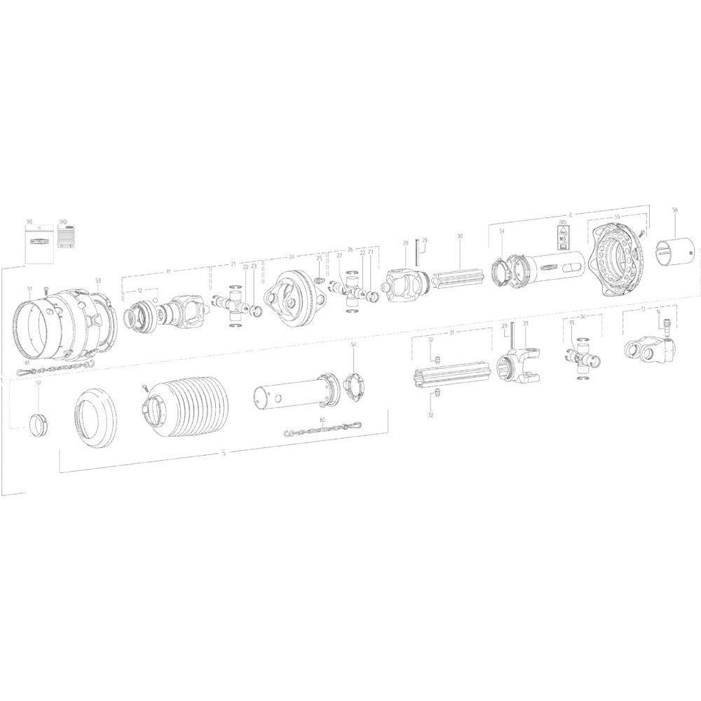 Walterscheid Ketting, 600 mm - 823608 | Aant.1 | 41660000 | 600 mm