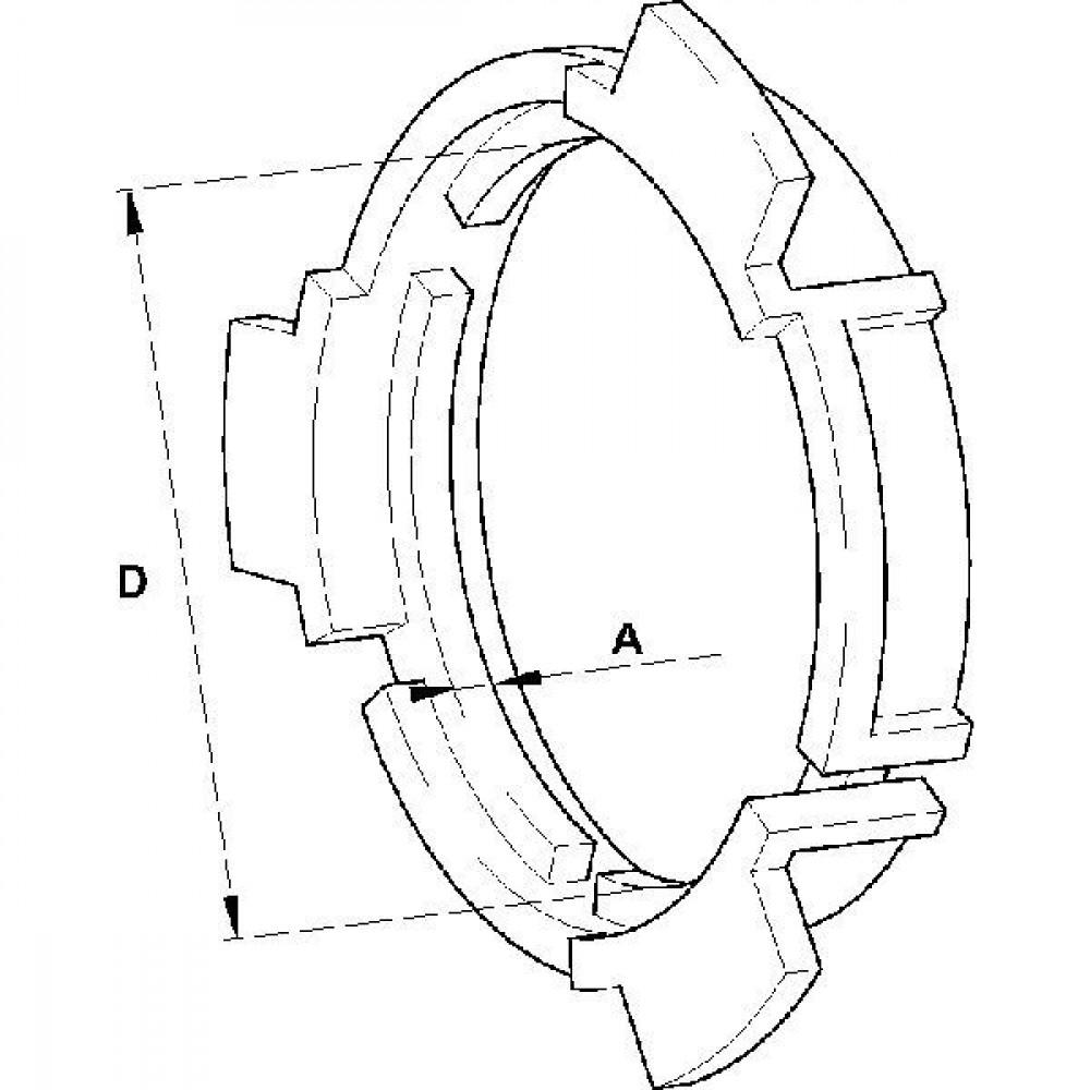 Walterscheid Ring Sc25 - 828304   Aant.1   41550000   SC25 / SD25   5 mm