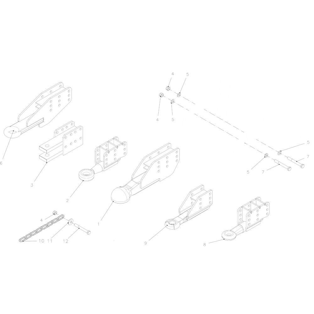 Kuhn Veiligh.ketting 45KN ASAE S338 - 83080001 | Aant.001