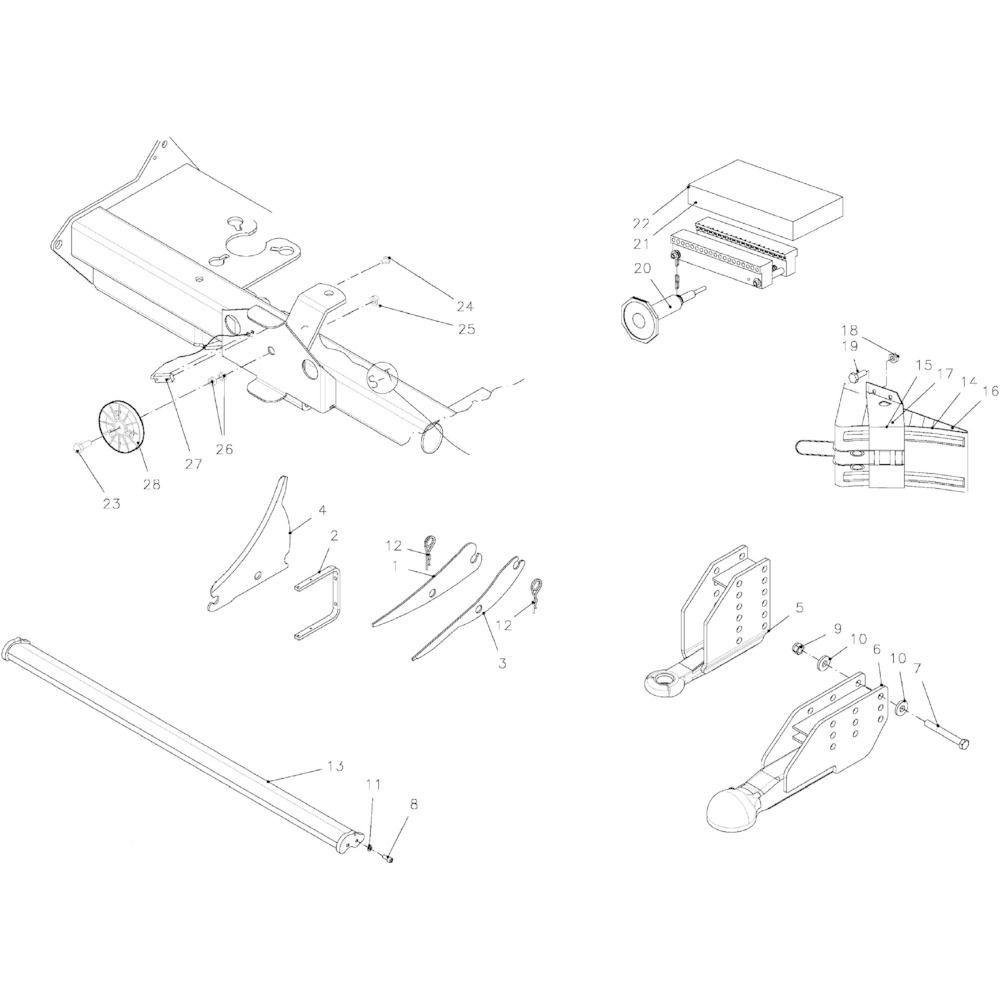 Kuhn Houder voor wielblok - 83090043 | Aant.2