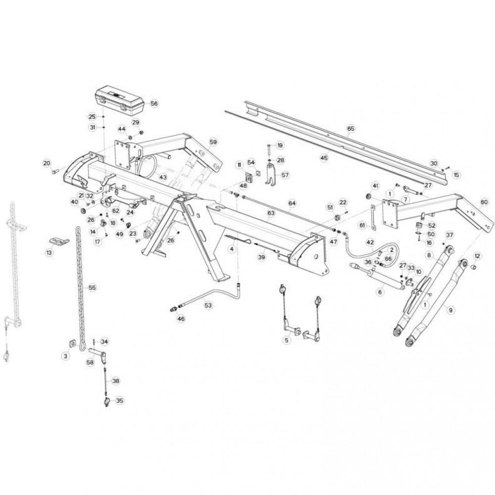 Kuhn Schokbescherming - 83090200   L=2470mm, Aant.1