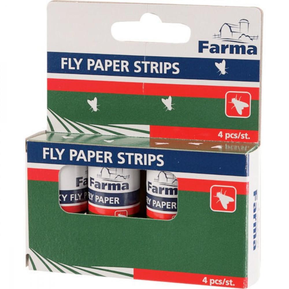 Farma Vliegenstrip set van 4 stuks - 902007FA