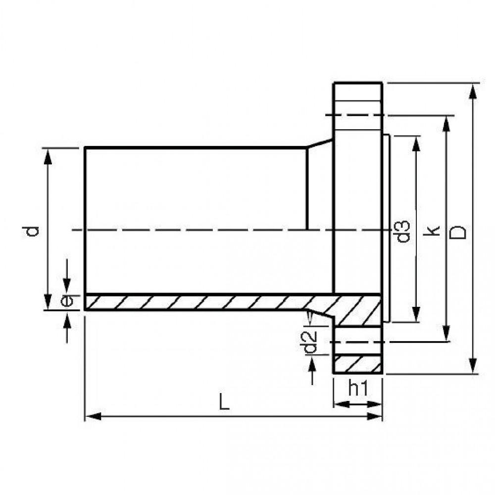 Plasson Flensstuk 225 mm SDR 11 - 9239225 | Universeel toepasbaar | 225 mm | 356 mm | 268 mm | 20,5 mm | 295 mm | 62 mm | 200 mm