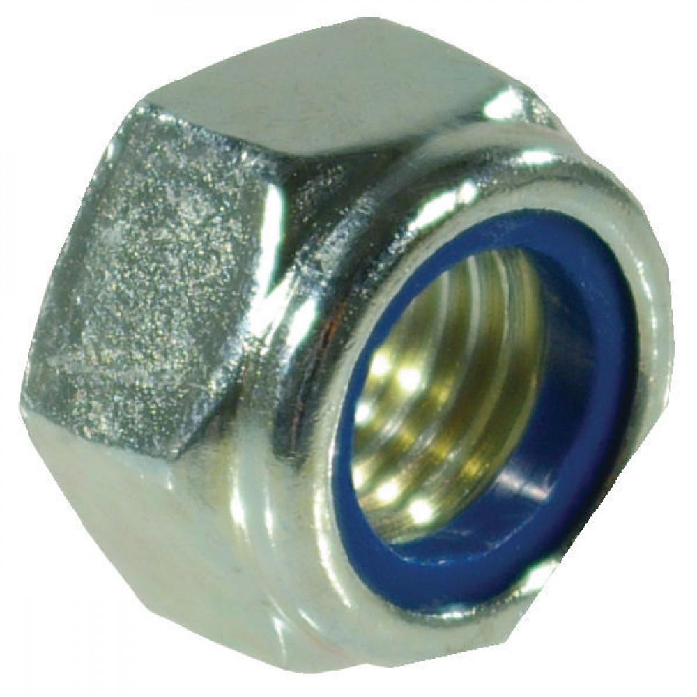 Borgmoer M8 kl.8 verz. - 9858 | M8x1,25 | 5,5 mm | 8 mm | DIN 985 | Verzinkt | 0,5 kg/100 | DIN 985 / ISO 10511 | ISO 10511 | Metrisch