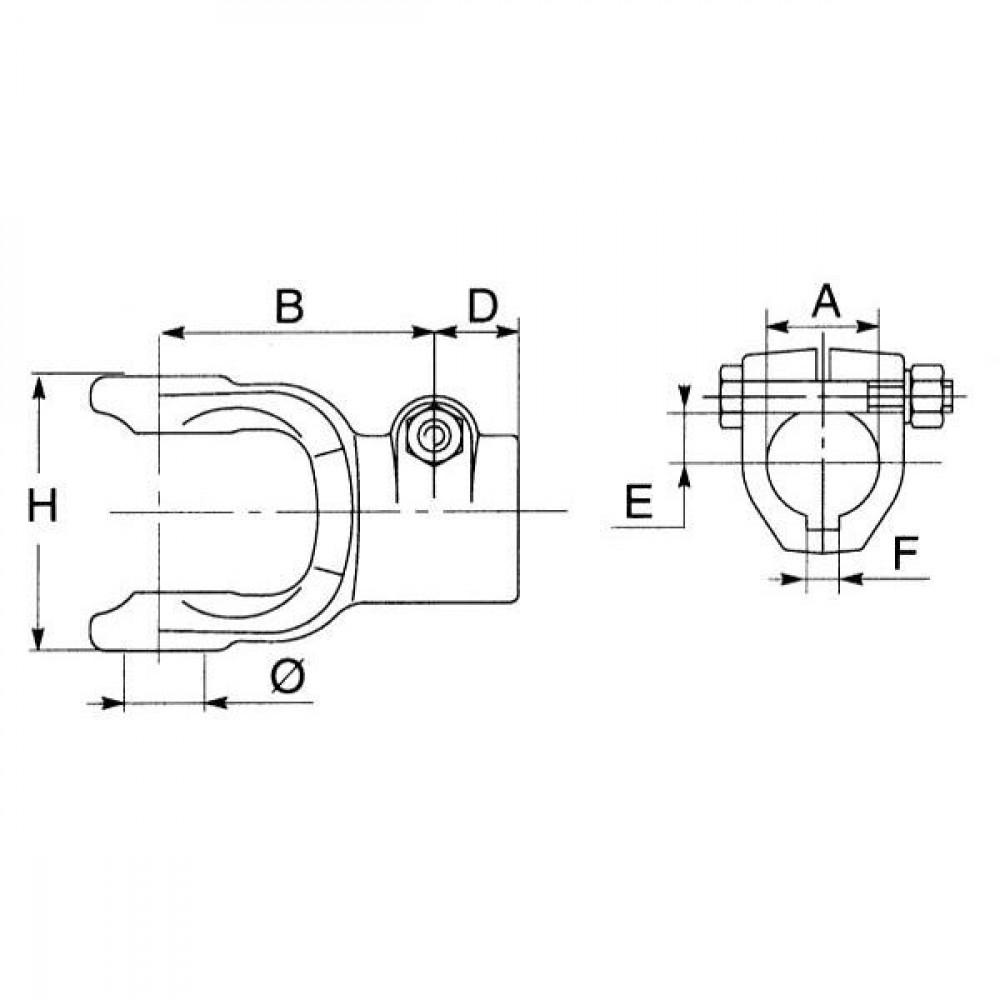 Bondioli&Pavesi A-gaffel GR.6 1.3/8Z6 - 509060361 | 6 / G7 / S 7