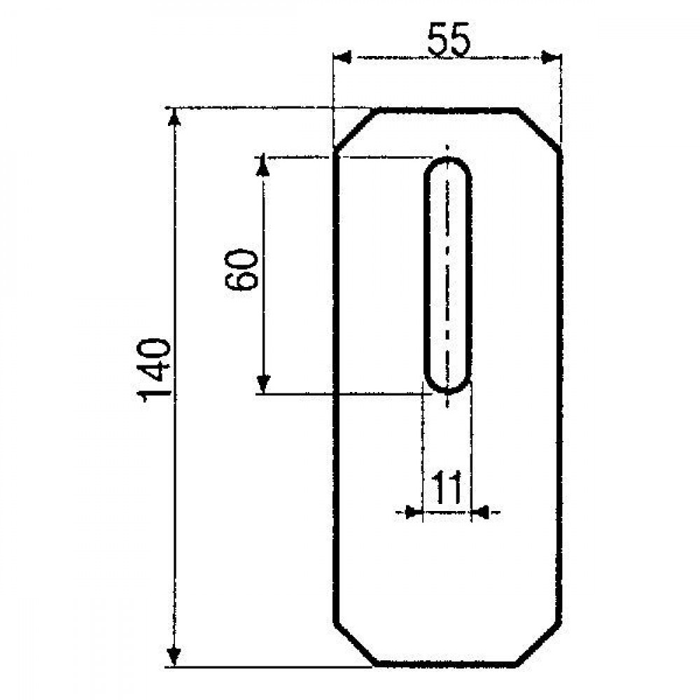 Afstrijker 55x140mm Amazone - AB010003 | 6036.200 | 140 mm | 140 mm
