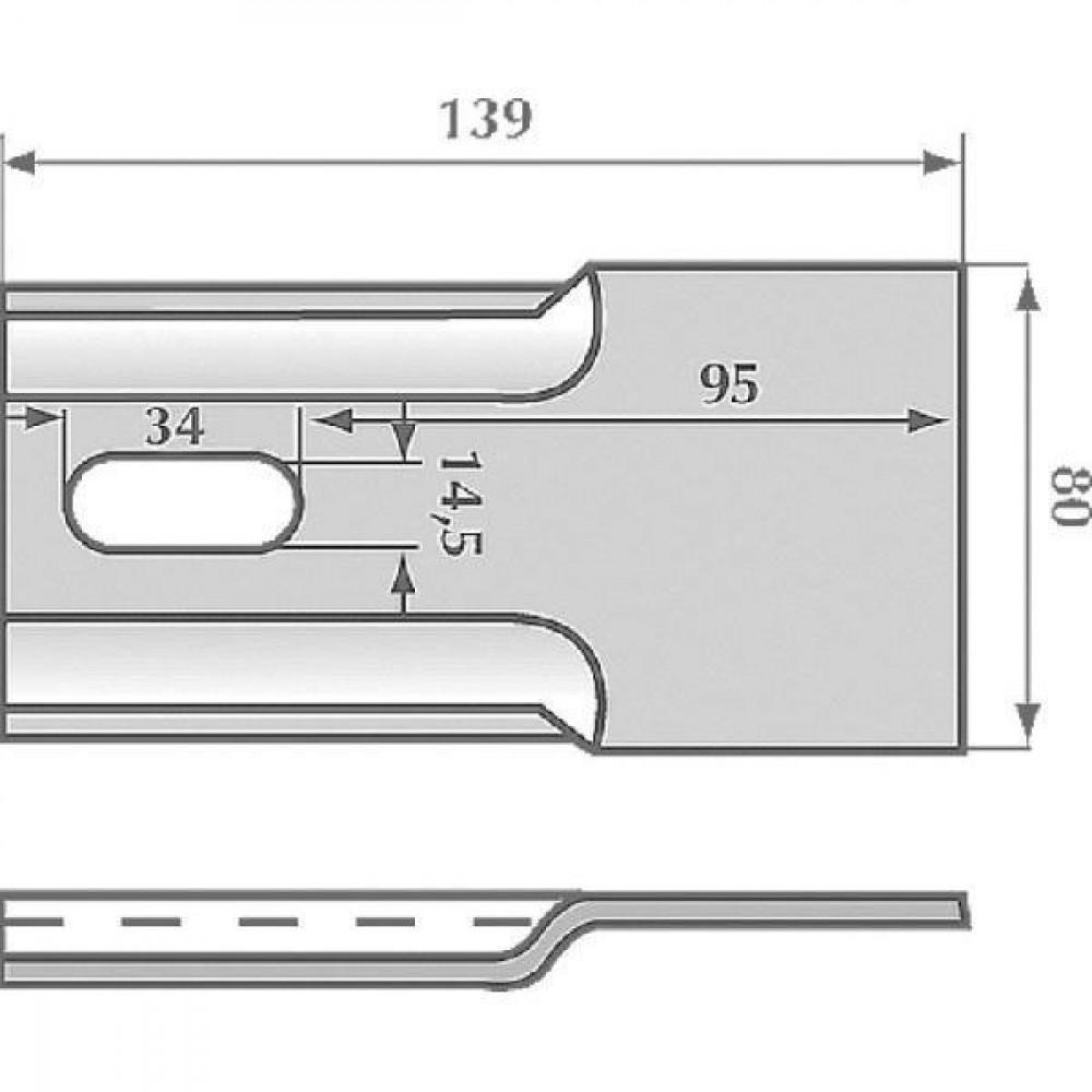 Afstrijker 80x139mm Breviglieri - AB020001 | 0032811 | 139 mm | 140 mm