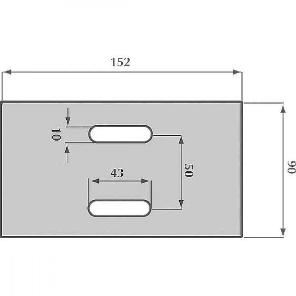 Afstrijker 90x152mm Eberhardt - AB035001 | 300142 | 152 mm | 152 mm