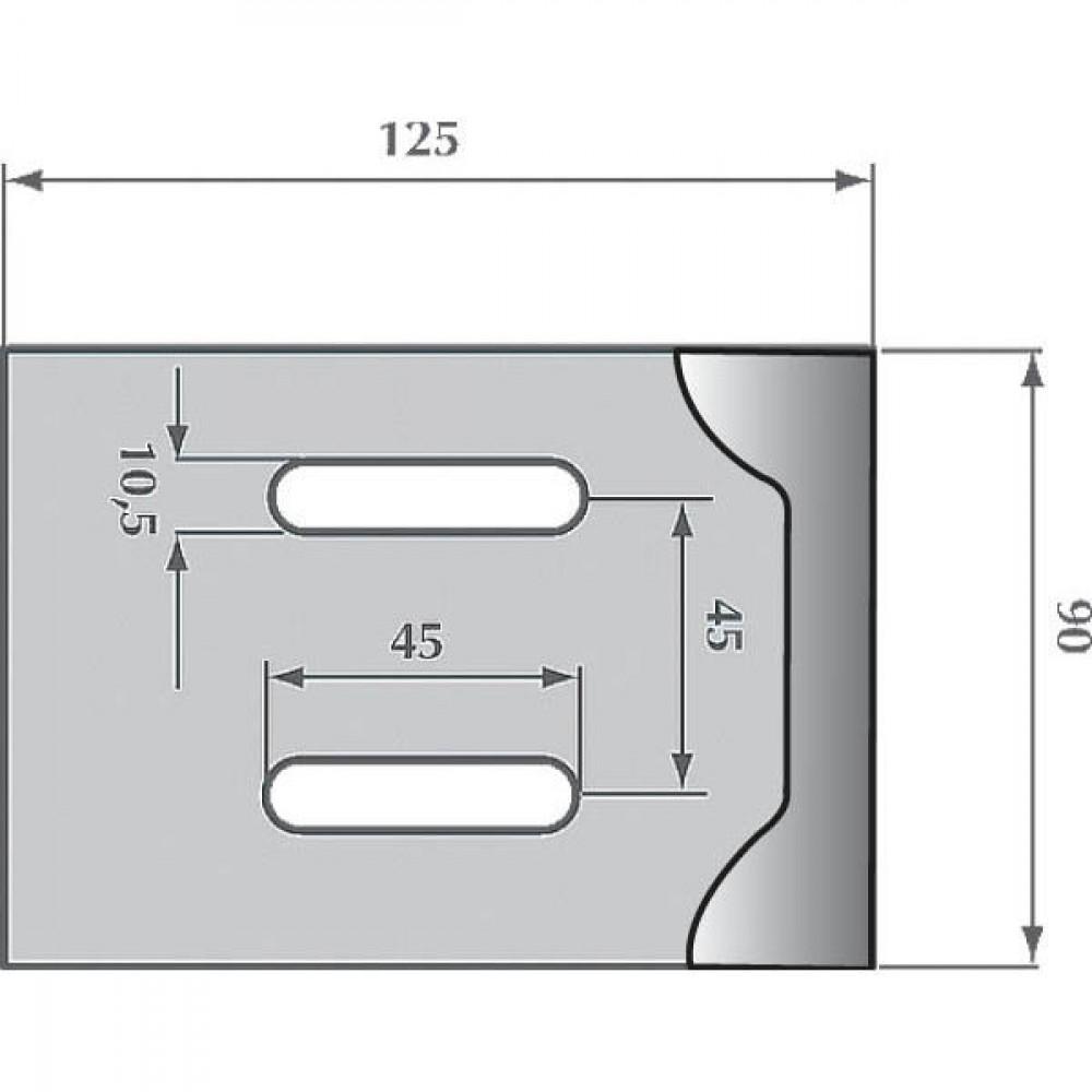 Afstrijker 90x125mm Frost - AB038003 | 125 mm | 125 mm